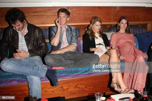 Francesco Missoni Jefferson Hack Eugenie Niarchos and Anouck Lepere attend the Bruce Nauman dinner party hosted by Missoni on the boat 'Timoteo'...