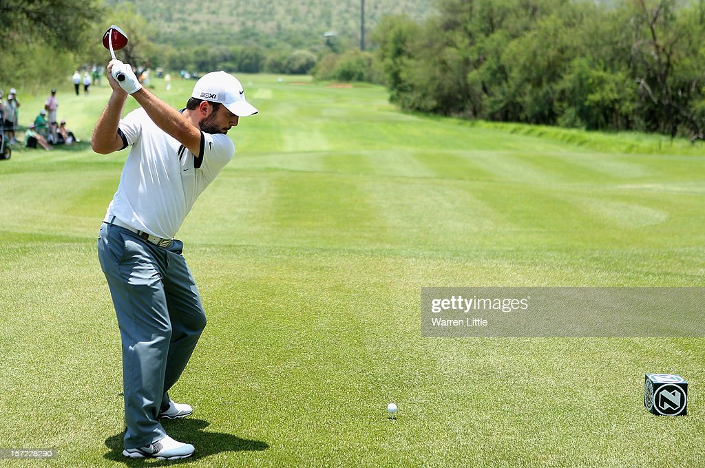 Francesco Molinari of Italy in action during the second round of the Nedbank Golf Challenge at the Gary Player Country Club on November 30, 2012 in Sun City, South Africa.