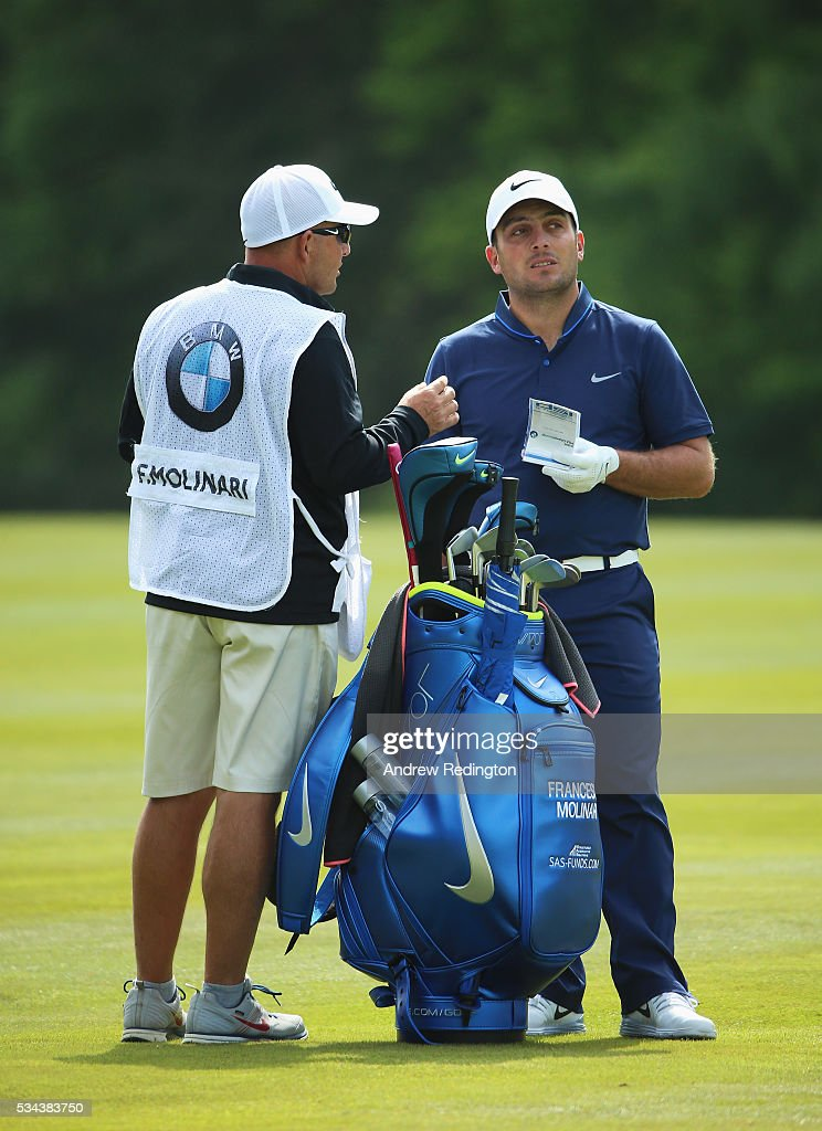 <a gi-track='captionPersonalityLinkClicked' href=/galleries/search?phrase=Francesco+Molinari&family=editorial&specificpeople=637481 ng-click='$event.stopPropagation()'>Francesco Molinari</a> of Italy looks down the 9th hole during day one of the BMW PGA Championship at Wentworth on May 26, 2016 in Virginia Water, England.