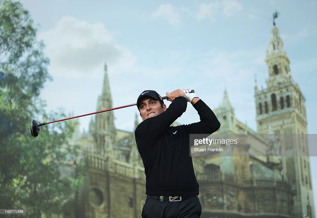 Francesco Molinari of Italy plays a shot during the first round of the Open de Espana at Real Club de Golf de Sevilla on May 3 2012 in Seville Spain