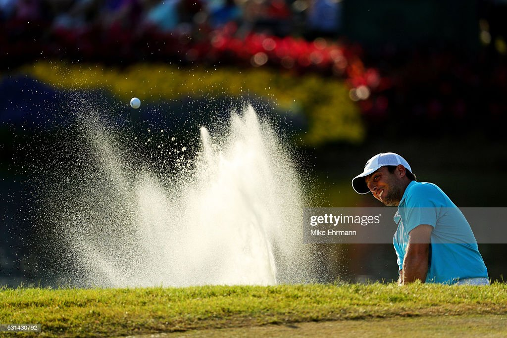 <a gi-track='captionPersonalityLinkClicked' href=/galleries/search?phrase=Francesco+Molinari&family=editorial&specificpeople=637481 ng-click='$event.stopPropagation()'>Francesco Molinari</a> of Italy plays a shot from a bunker on the 16th hole during the third round of THE PLAYERS Championship at the Stadium course at TPC Sawgrass on May 14, 2016 in Ponte Vedra Beach, Florida.