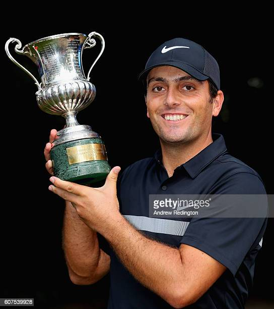 Francesco Molinari of Italy poses with the trophy after winning the Italian Open at Golf Club Milano Parco Reale di Monza on September 18 2016 in...