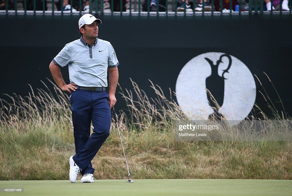 <a gi-track='captionPersonalityLinkClicked' href=/galleries/search?phrase=Francesco+Molinari&family=editorial&specificpeople=637481 ng-click='$event.stopPropagation()'>Francesco Molinari</a> of Italy waits on the third green during the second round of The 143rd Open Championship at Royal Liverpool on July 18, 2014 in Hoylake, England.