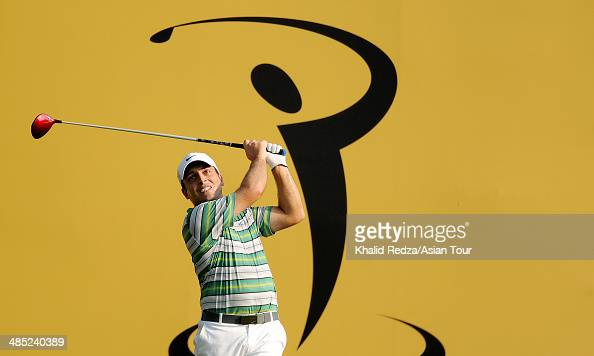 Francesco Molinari of Itlay in action during round one of the Maybank Malaysian Open at Kuala Lumpur Golf Country Club on April 17 2014 in Kuala...