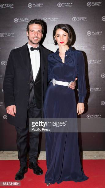 Francesco Montanari and Andrea Delogu on the Red Carpet for the premiere of 'Ovunque Tu Sarai'