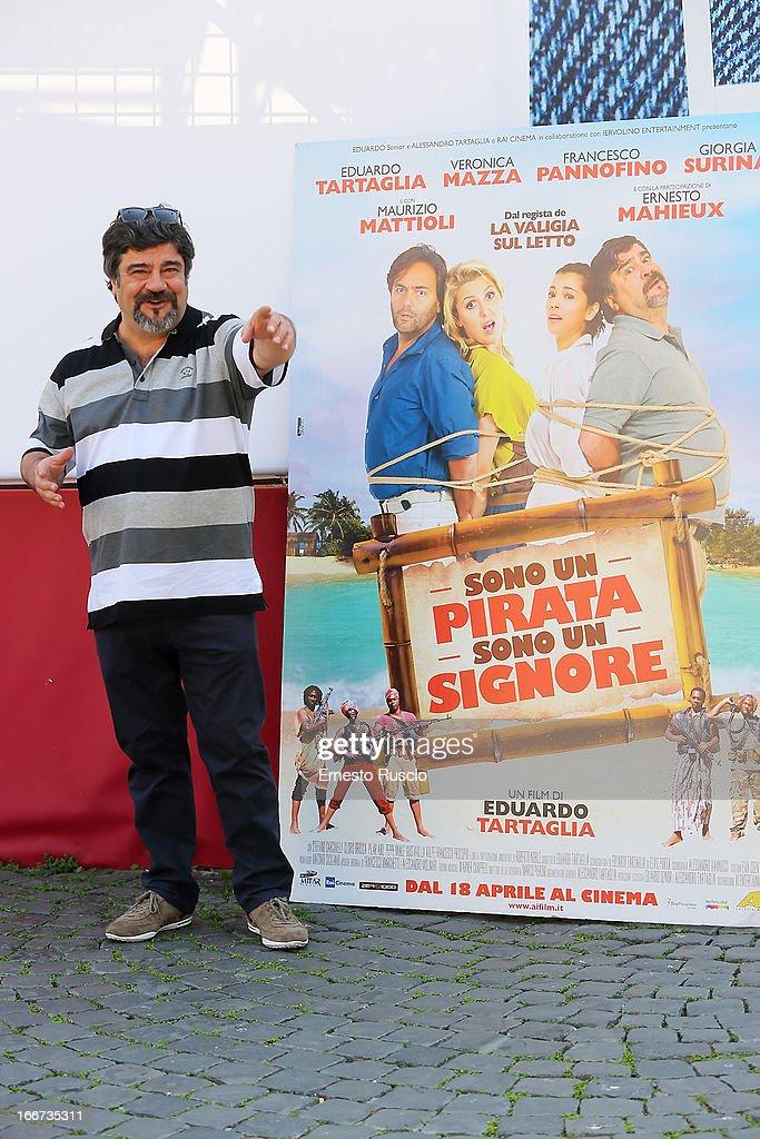 Francesco Pannofino attends the 'Sono Un Pirata, Sono Un Signore' photocall at Cinema Barberini on April 16, 2013 in Rome, Italy.