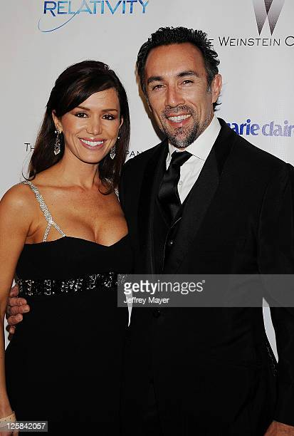 Francesco Quinn and Valentina Castellani Quinn arrives at The Weinstein Company and Relativity Media's 2011 Golden Globe After Party presented by...