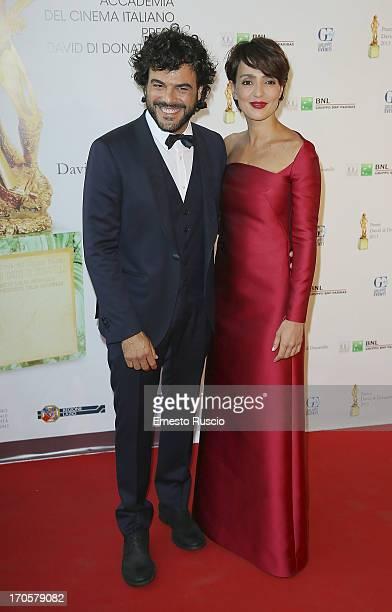 Francesco Renga and Ambra Angiolini attend the David di Donatello Ceremony Awards at Dear on June 14 2013 in Rome Italy