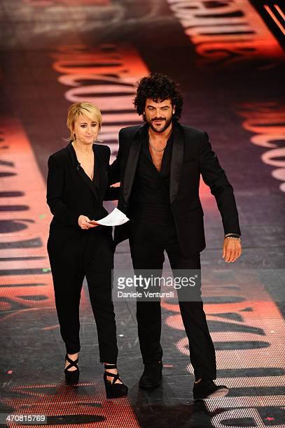 Francesco Renga and Luciana Littizzetto attend the third night of the 64th Festival di Sanremo 2014 at Teatro Ariston on February 20 2014 in Sanremo...