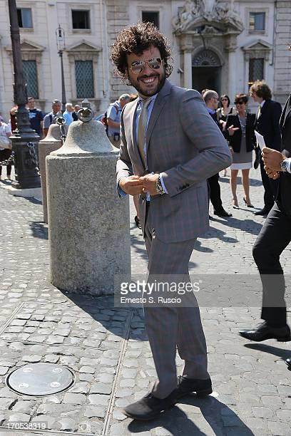 Francesco Renga arrives at the 2013 David di Donatello Award candidates presentation at palazzo Quirinale on June 14 2013 in Rome Italy