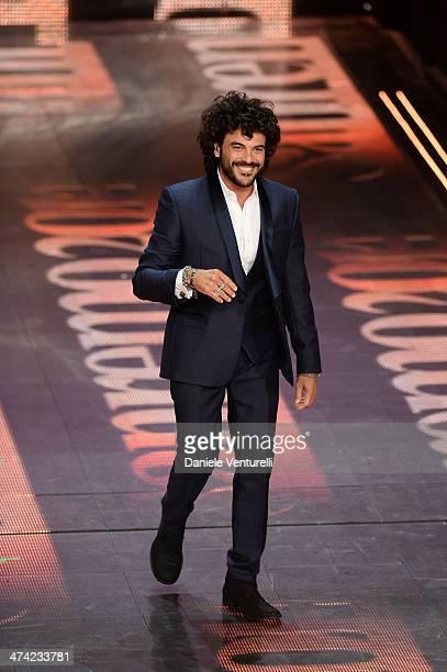 Francesco Renga attends closing night of the 64th Festival di Sanremo 2014 at Teatro Ariston on February 22 2014 in Sanremo Italy