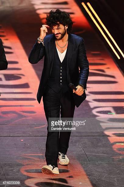Francesco Renga attends fourth night of the 64th Festival di Sanremo 2014 at Teatro Ariston on February 21 2014 in Sanremo Italy