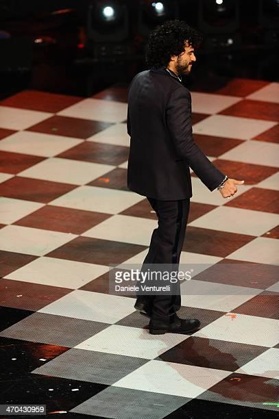Francesco Renga attends second night of the 64th Festival di Sanremo 2014 at Teatro Ariston on February 19 2014 in Sanremo Italy