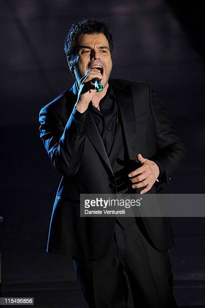 Francesco Renga attends the 60th Sanremo Song Festival at the Ariston Theatre On February 18 2010 in San Remo Italy