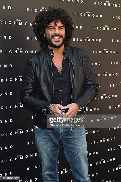 Francesco Renga attends the John Richmond show during the Milan Fashion Week Autumn/Winter 2015 on March 1 2015 in Milan Italy
