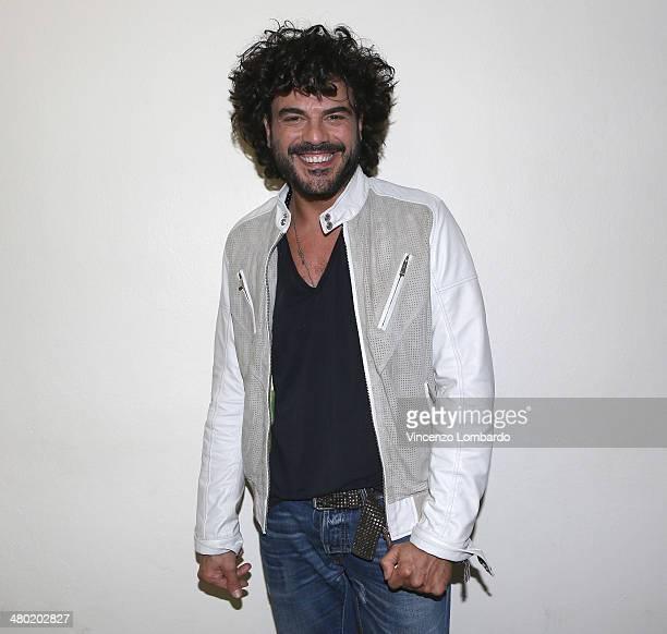 Francesco Renga attends the 'Quelli Che Il Calcio' TV Show on March 23 2014 in Milan Italy
