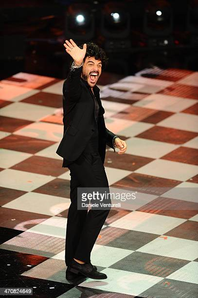 Francesco Renga attends the third night of the 64th Festival di Sanremo 2014 at Teatro Ariston on February 20 2014 in Sanremo Italy