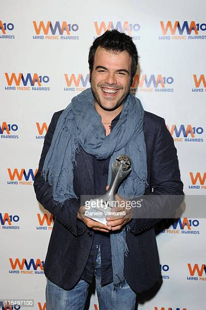 ACCESS *** Francesco Renga attends the Wind Music Awards Backstage at the Arena of Verona on May 29 2010 in Verona Italy