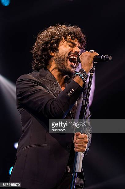 Francesco Renga performs live quotScriver il tuo nomequot tour at the Palalottomatica Rome Italy on 22 October 2016