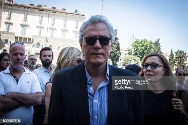 Francesco Rutelli attends during Carla Fendi Funeral At Chiesa degli Artisti in Rome