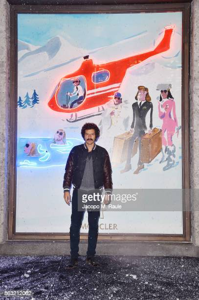 Francesco Scianna attends the Moncler Flagship Store Opening Cocktail on October 19 2017 in Milan Italy
