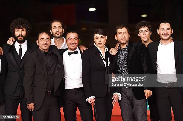 Francesco Scianna guest Salvatore Striano Francesco Di Leva Valentina Lodovini Alessandro Piva and guests attend the 'I Milionari' Red Carpet during...