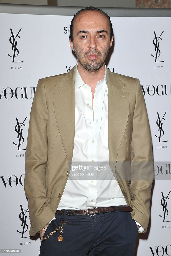 Francesco Scognamiglio attends 'Yves Saint Laurent' Premiere on March 17 2014 in Milan Italy
