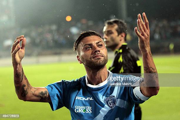 Francesco Tavano of Empoli FC celebrates after scoring a goal during the Serie B match between Empoli FC and Pescara Calcio at Stadio Carlo...