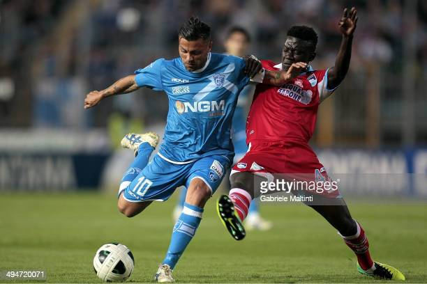 Francesco Tavano of Empoli FC in action during the Serie B match between Empoli FC and Pescara Calcio at Stadio Carlo Castellani on May 30 2014 in...