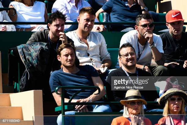Francesco Toti of Italy soccer player of AS Roma during the Monte Carlo Rolex Masters 2017 on April 21 2017 in Monaco Monaco