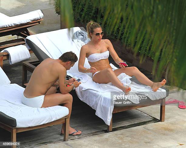 Francesco Totti and wife Ilary Blasi are seen on June 07 2012 in Miami Florida
