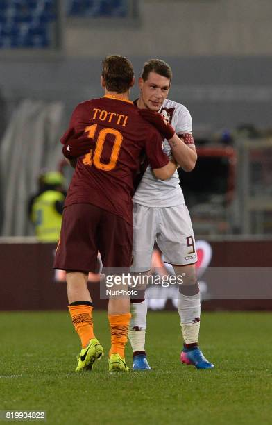 Francesco Totti Andrea Belotti during the Italian Serie A football match between AS Roma and FC Torino at the Olympic Stadium in Rome on february 19...
