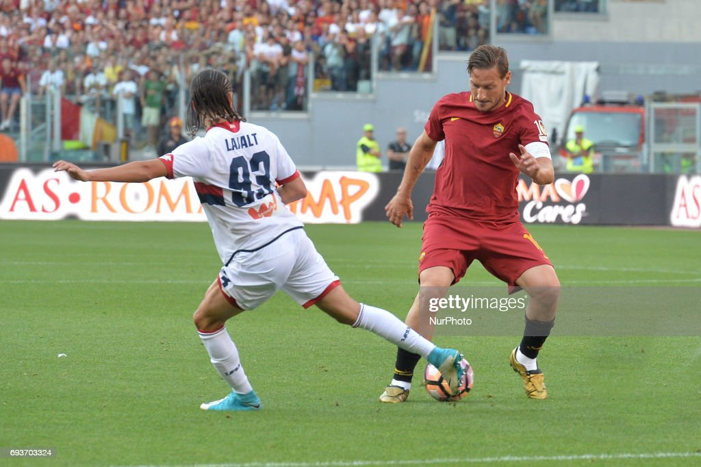 Francesco Totti during the Italian Serie A football match between A.S. Roma and F.C. Genoa at the Olympic Stadium in Rome, on may 28, 2017.