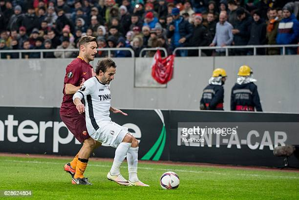Francesco Totti of AS Roma and Felipe Teixeira of FC Astra Giurgiu during the UEFA Europa League 20162017 Group E game between FC Astra Giurgiu and...