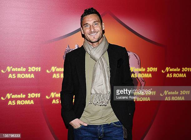 Francesco Totti of AS Roma attends the AS Roma Christmas party at Maxxi Museum on December 14 2011 in Rome Italy