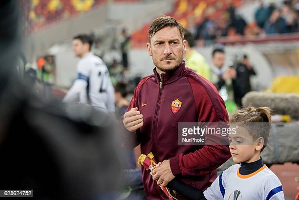 Francesco Totti of AS Roma during the UEFA Europa League 20162017 Group E game between FC Astra Giurgiu and AS Roma at National Arena Bucharest...