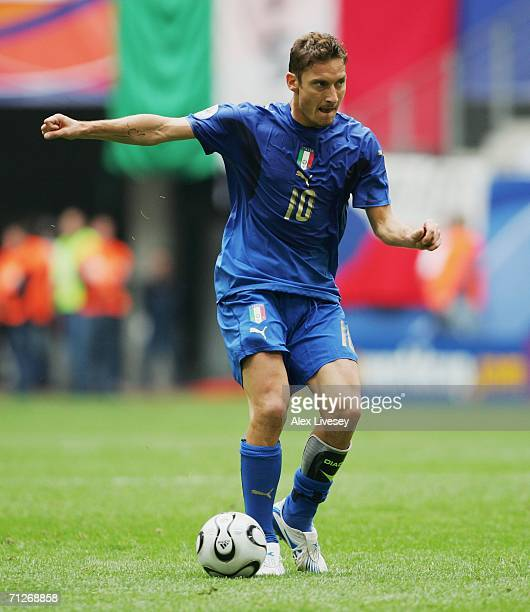 Francesco Totti of Italy in action during the FIFA World Cup Germany 2006 Group E match between Czech Republic and Italy played at the Stadium...