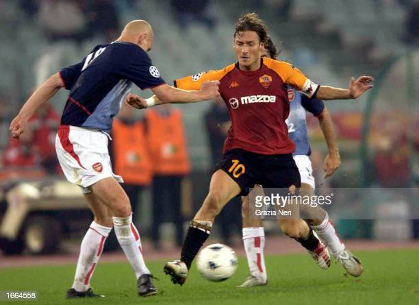 Francesco Totti of Roma action during the UEFA Champions League Second Phase match between AS Roma and Arsenal played at the Olympic Stadium Rome...