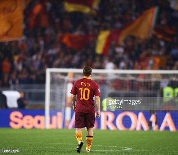 Francesco Totti of Roma at Olimpico Stadium in Rome Italy on May 14 2017