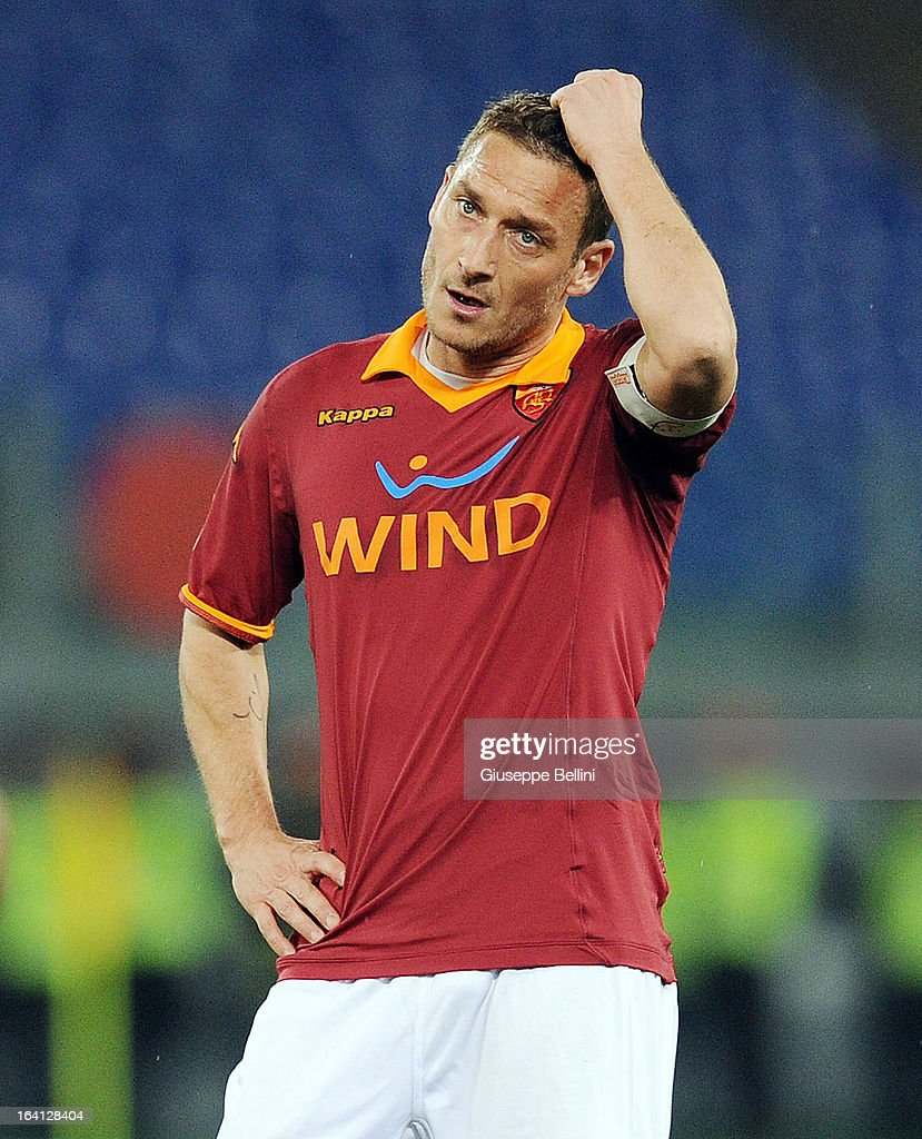 Francesco Totti of Roma during the Serie A match between AS Roma and Parma FC at Stadio Olimpico on March 17, 2013 in Rome, Italy.