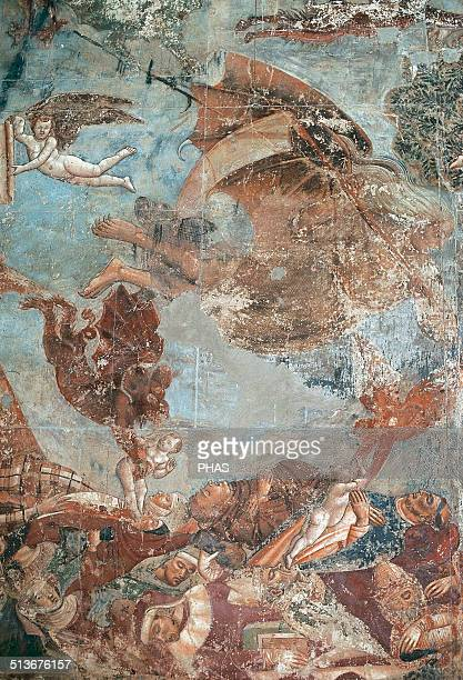 Francesco Traini Italian painer active form 13211365 The Triumph of Death 1355 Fresco Camposanto Pisa Italy