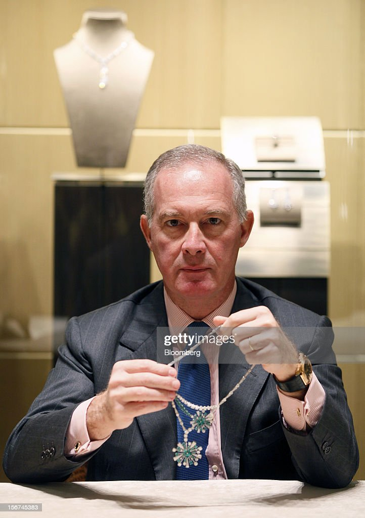 Francesco Trapani, president of watches and jewelry at LVMH Moet Hennessy Louis Vuitton SA, poses for a photograph inside the Bulgari SpA store, in Rome, Italy, on Monday, Nov. 19, 2012. Last year's acquisition of Bulgari 'has brought a lot of jewelry know-how' to the company, said Trapani, who joined the Paris- based luxury-goods maker as part of the deal. Photographer: Alessia Pierdomenico/Bloomberg via Getty Images