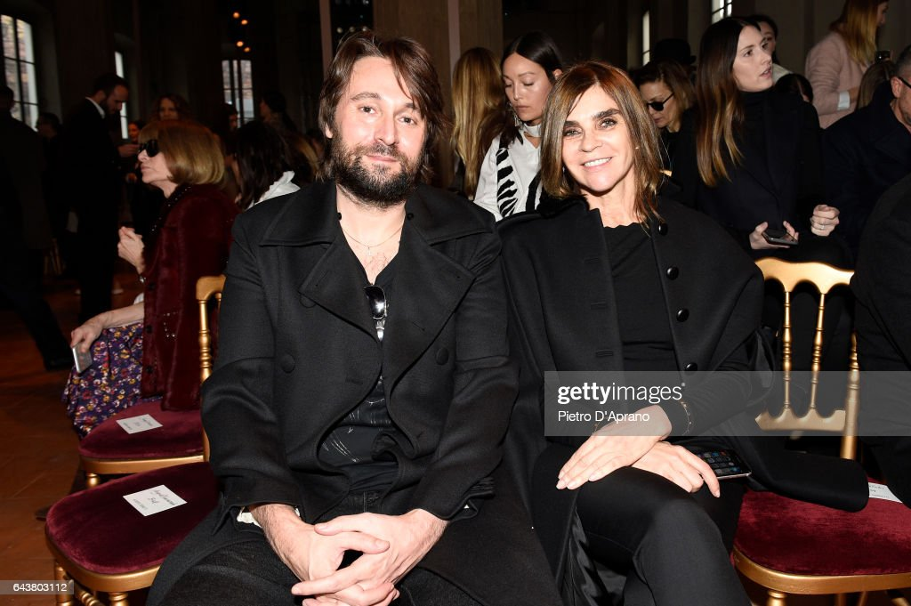 francesco-vezzoli-and-carine-roitfeld-attend-the-alberta-ferretti-picture-id643803112
