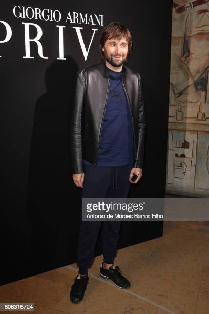 Francesco Vezzoli attends the Giorgio Armani Prive Haute Couture Fall/Winter 20172018 show as part of Haute Couture Paris Fashion Week on July 4 2017...