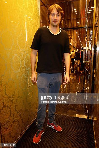Francesco Vezzoli attends the Miu Miu reopening cocktail on September 12 2013 in Milan Italy