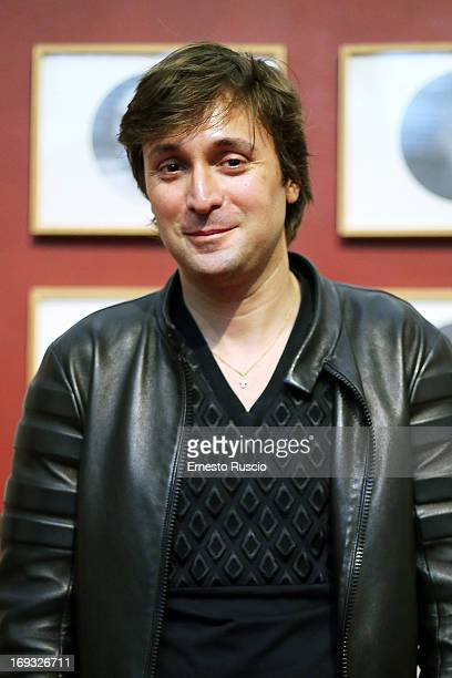 Francesco Vezzoli attends the 'The Trinity' exhibition press conference at Maxxi Museum on May 23 2013 in Rome Italy