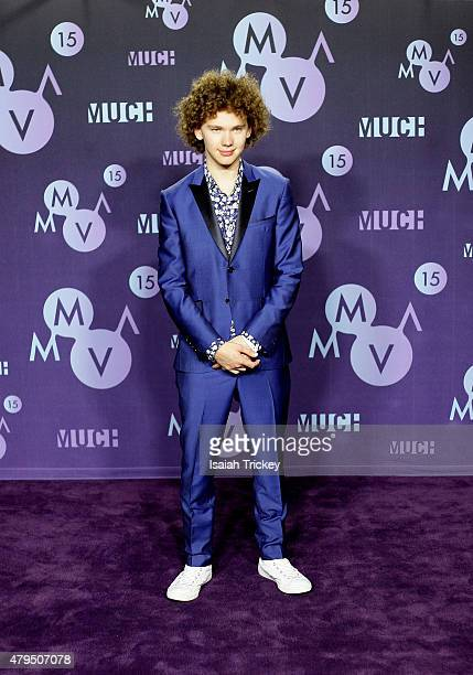 Francesco Yates poses in the press room at the 2015 Much Music Video Awards at MuchMusic HQ on June 21 2015 in Toronto Canada