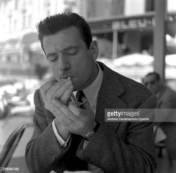 Franch singer Yves Montand in Cannes 1953