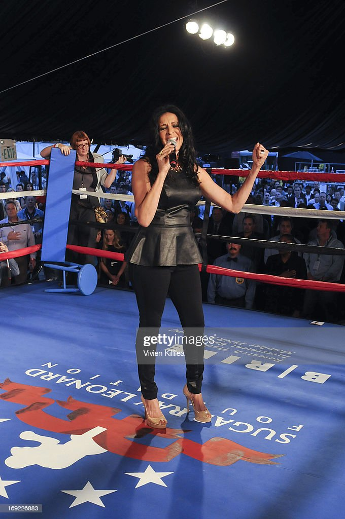 Franchesca Robi sings the national anthem at B. Riley & Co. & The Sugar Ray Leonard Foundation Present The 4th Annual 'Big Fighters, Big Cause' Charity Fight Night To Benefit Juvenile Diabetes at Santa Monica Pier on May 21, 2013 in Santa Monica, California.