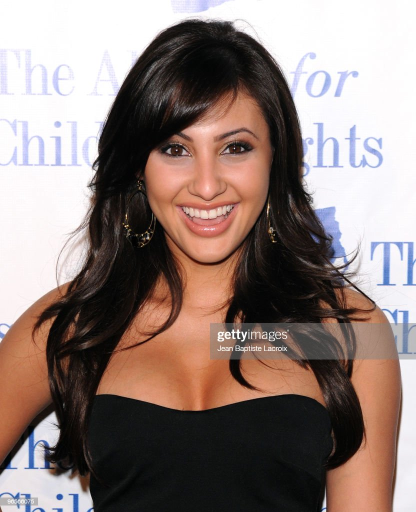 Francia Raisa arrives at The Alliance for Children's Rights honors 'Law And Order' at the Beverly Hilton Hotel on February 10 2010 in Beverly Hills...